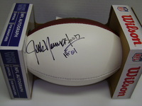 HOF - RAMS JACK YOUNGBLOOD SIGNED PANEL BALL