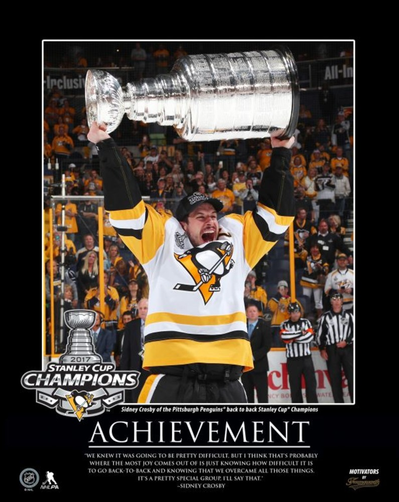 Sidney Crosby - 16x20 Motivator Plaque 2017 Stanley Cup