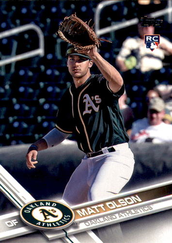 Photo of 2017 Topps #476 Matt Olson --  Rookie Card of Oakland's rookie sensation