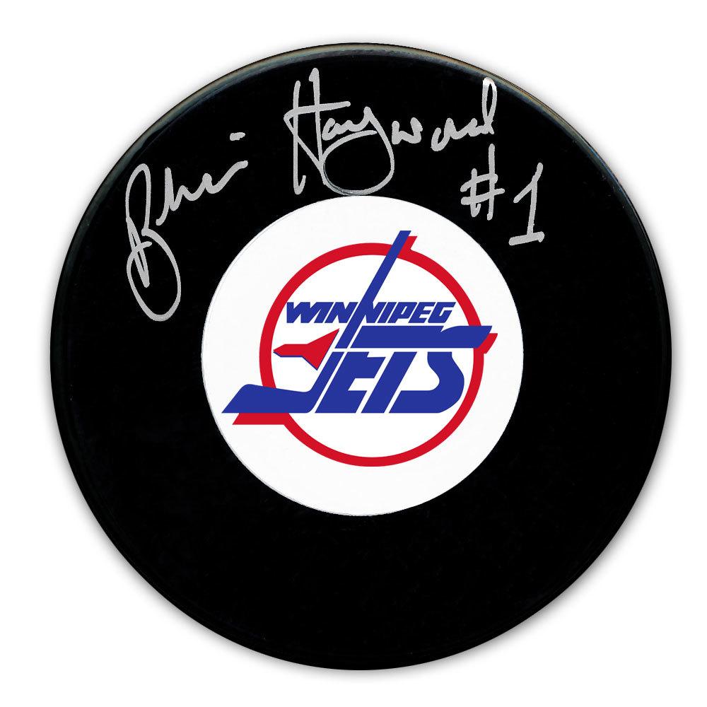 Brian Hayward Winnipeg Jets Autographed Puck