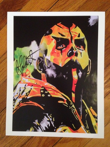 "Photo of Goldust SIGNED 11"" x 14"" Rob Schamberger Print"