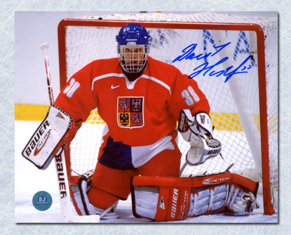 Dominik Hasek Czech Republic Autographed 1998 Olympic Hockey Gold 8x10 Photo