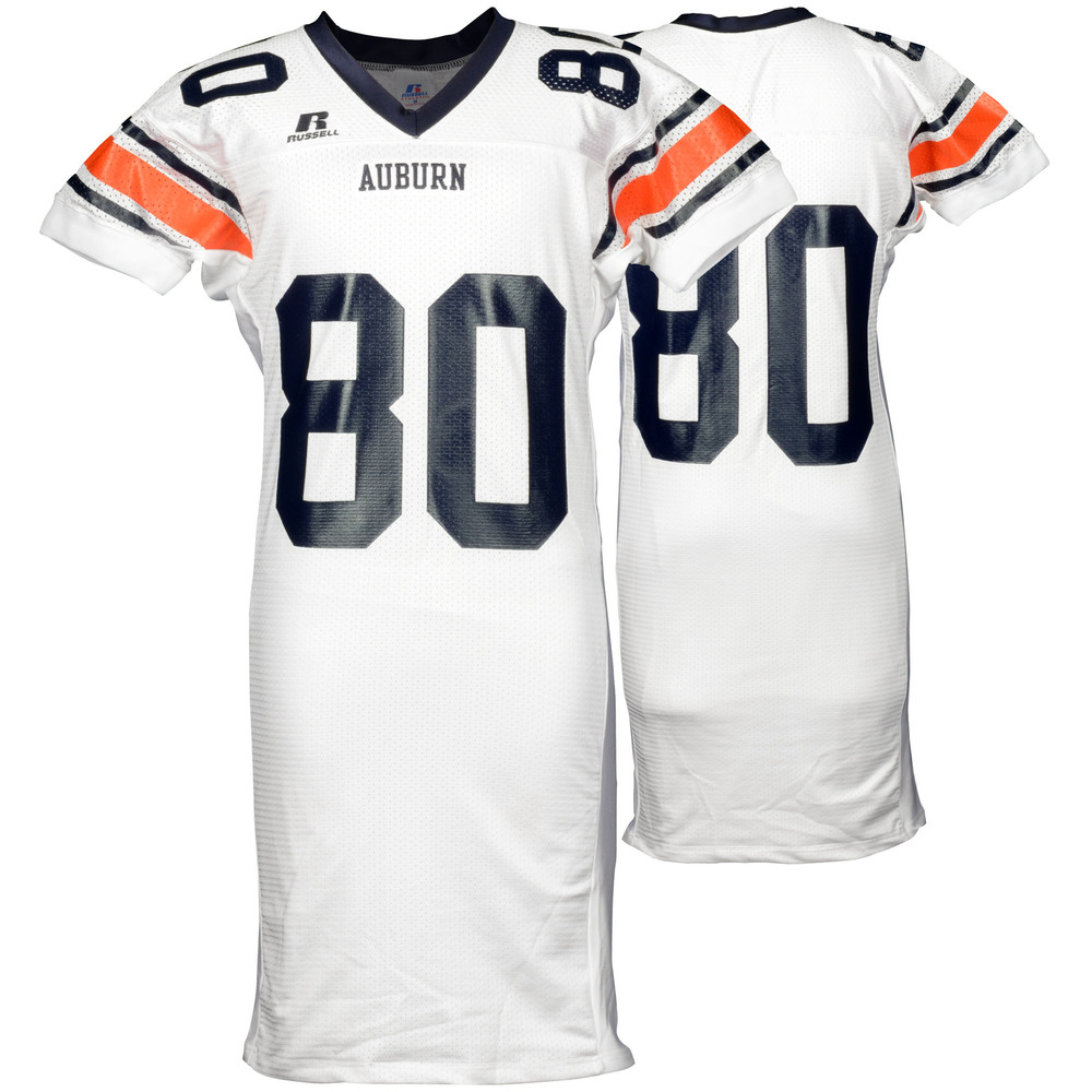 Auburn Tigers Game-Used 2003-2005 Russell White Football Jersey #80 - Size M