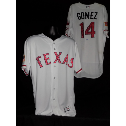 Photo of Carlos Gomez Game-Used Stars and Stripes Jersey