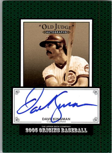 Photo of 2005 Origins Old Judge Autographs #DK Dave Kingman T3