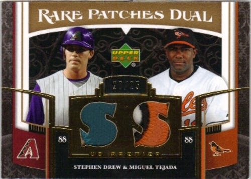 Photo of 2007 Upper Deck Premier Stephen Drew/Miguel Tejada Jersey PATCH 20/25
