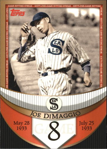 Photo of 2007 Topps DiMaggio Streak Before the Streak #JDSF8 Joe DiMaggio