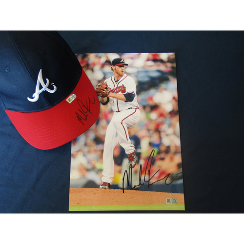 Photo of Braves Charity Auction - Mike Foltynewicz Autographed Photo and Baseball