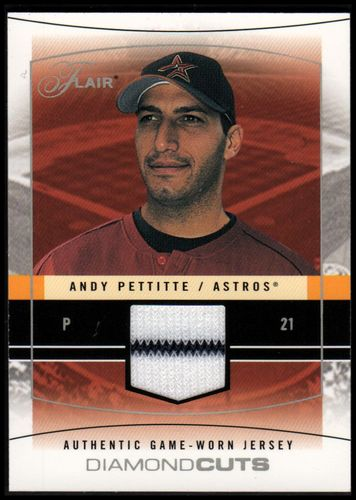 Photo of 2004 Flair Diamond Cuts Game Used Silver #ANP Andy Pettitte