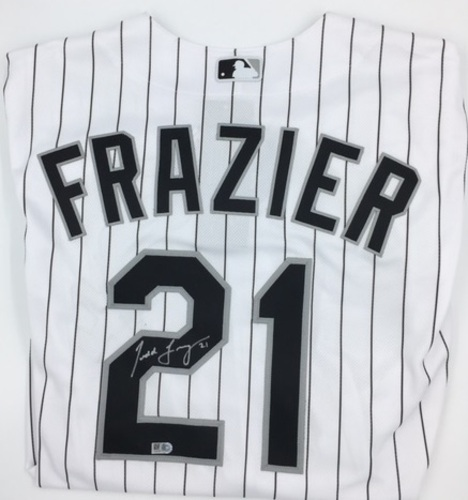 Photo of Todd Frazier Autographed Authentic Whiite Sox Jersey