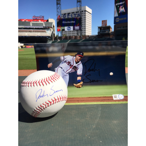 Photo of Harvey Relief Auction - Dansby Swanson Autographed Ball & Photo