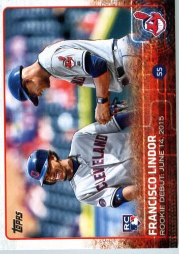 Photo of 2015 Topps Update #US286 Francisco Lindor  -- Indians post-season