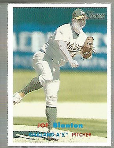 Photo of 2006 Topps Heritage #457 Joe Blanton -- Nationals post-season