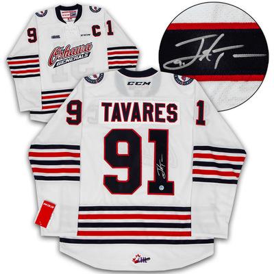 John Tavares Oshawa Generals Autographed CCM CHL Replica Hockey Jersey