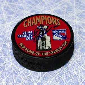 Esa Tikkanen New York Rangers Autographed 1994 Stanley Cup Puck