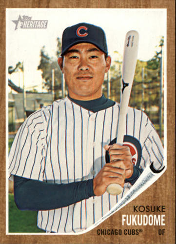 Photo of 2011 Topps Heritage #47 Kosuke Fukudome