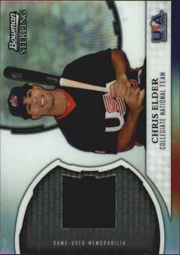 Photo of 2011 Bowman Sterling USA Baseball Relics #CE Chris Elder