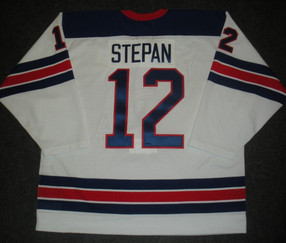 Derek Stepan - Sochi 2014 - Winter Olympic Games - Team USA Throwback Game-Worn Jersey - Worn in 2nd and 3rd Periods vs. Slovenia, 2/16/14
