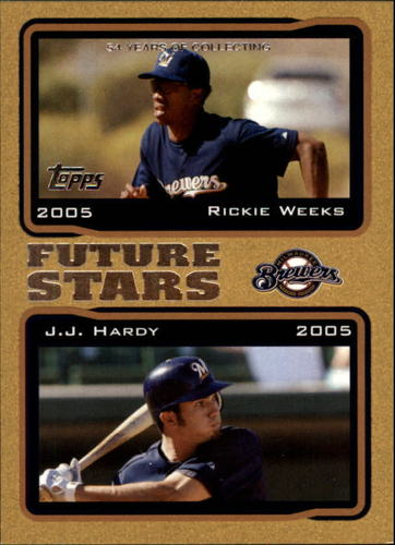 Photo of 2005 Topps Gold #328 R.Weeks/J.Hardy FS