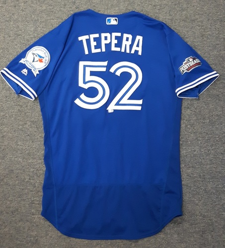 Photo of Authenticated Game Used 2016 Postseason Jersey - #52 Ryan Tepera (Wild Card Game and ALDS Game 3)