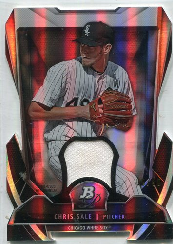 Photo of 2013 Bowman Platinum Cutting Edge Stars Relics #CS Chris Sale 8/50 -- Red Sox post-season