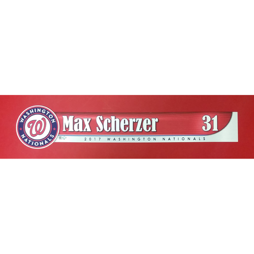 Photo of 2017 Locker Tag: Max Scherzer
