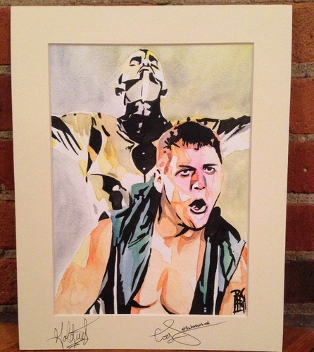 Goldust & Cody Rhodes Signed Painting by Rob Schamberger