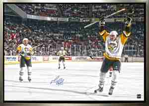 Mario Lemieux - Signed 24x35 Canvas - Pittsburgh Penguins Celebration