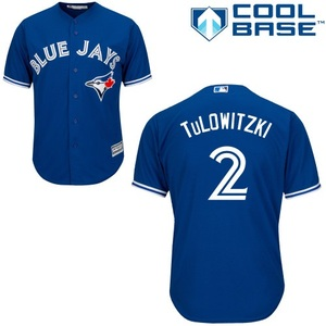 Toronto Blue Jays Youth Cool Base Replica Troy Tulowitzki Alternate Jersey by Majestic