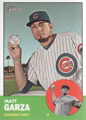 Photo of 2012 Topps Heritage #175 Matt Garza