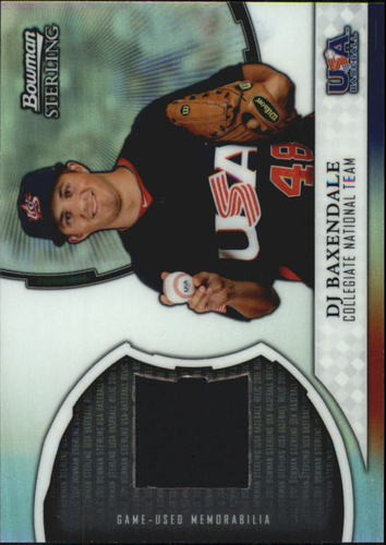 Photo of 2011 Bowman Sterling USA Baseball Relics #DB DJ Baxendale