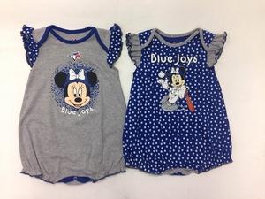 Toronto Blue Jays Newborn/Infant Disney Team Sparkle 2 Piece Creeper Set by Majestic