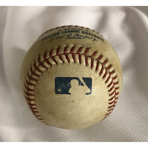 Photo of Game-Used Baseball - AJ Pollock Triple vs. Tanner Roark