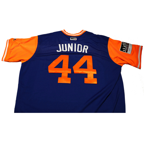 "Photo of AJ ""Junior"" Ramos New York Mets Game-Used Players Weekend Jersey"