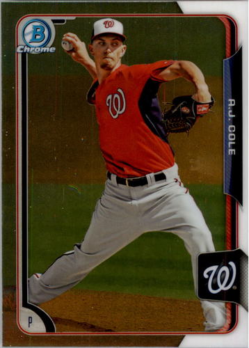 Photo of 2015 Bowman Chrome Prospects #BCP8 A.J. Cole -- Nationals post-season