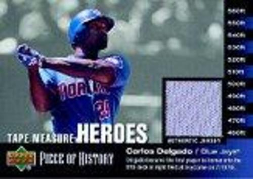 Photo of 2002 UD Piece of History Tape Measure Heroes Jersey #CD Carlos Delgado