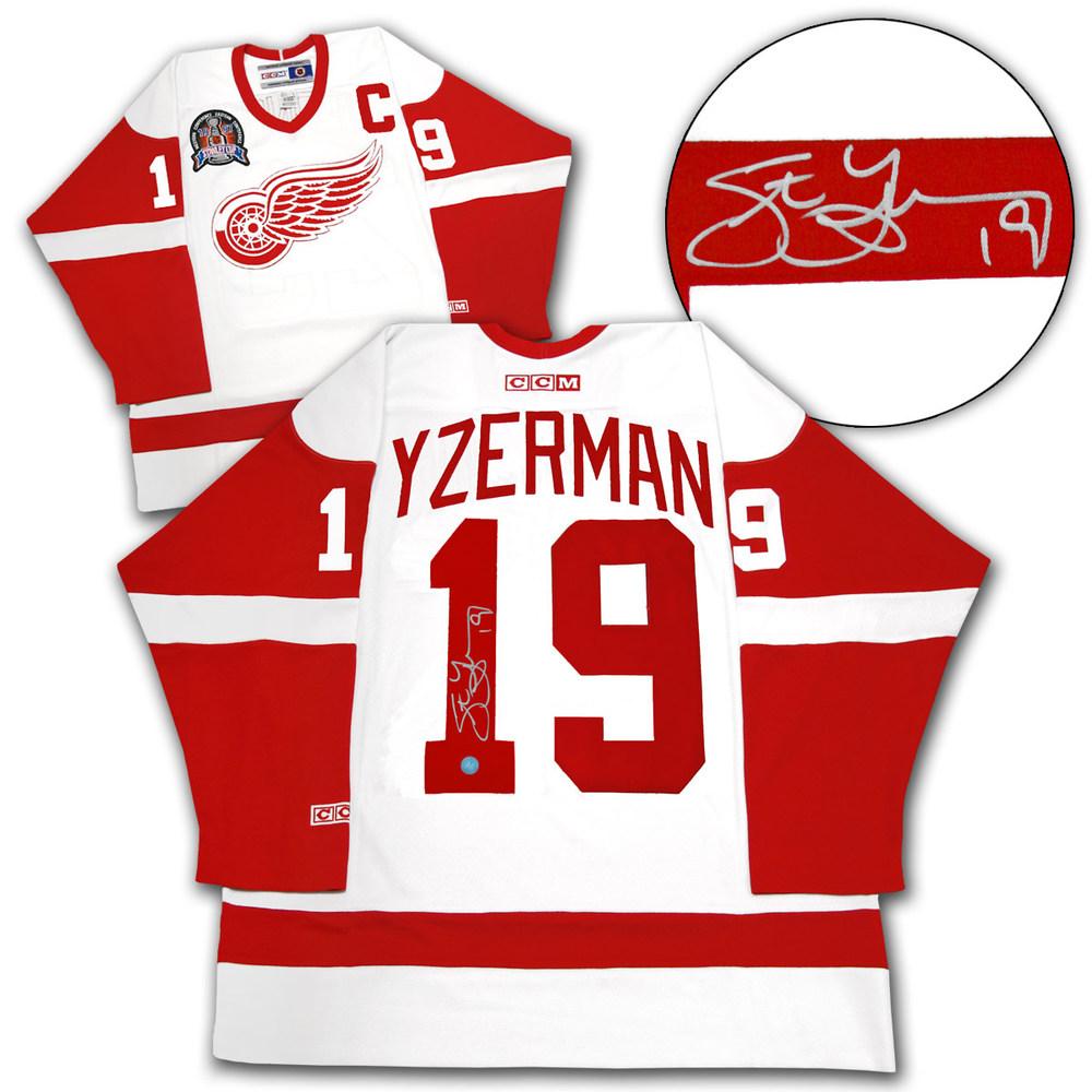 Steve Yzerman Detroit Red Wings Autographed 1997 Stanley Cup Retro CCM Jersey