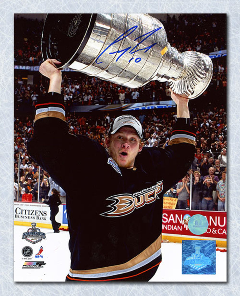 Corey Perry Anaheim Ducks Autographed 2007 Stanley Cup 8x10 Photo
