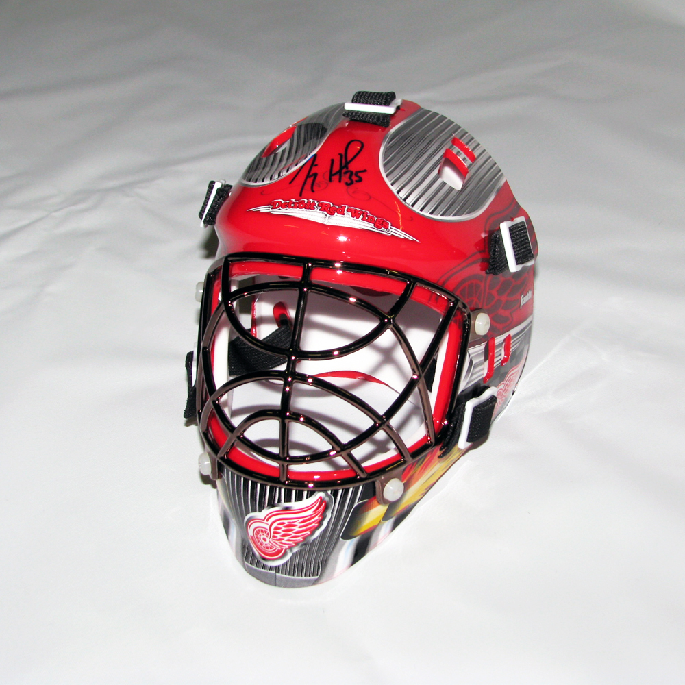 JIMMY HOWARD Signed Detroit Red Wings Mini Mask