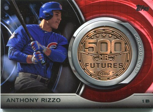 Photo of 2016 Topps Update 500 HR Futures Club Medallions #500M17 Anthony Rizzo Cubs post-season