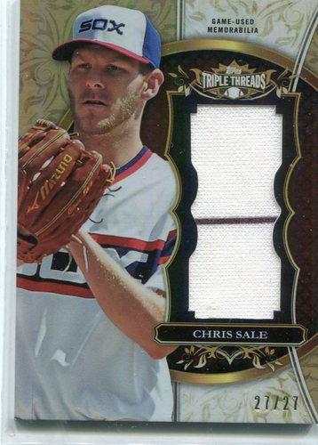 Photo of 2013 Topps Triple Threads Unity Relics Sepia Chris Sale 27/27 -- Red Sox post-season