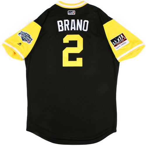 "Photo of Pittsburgh Pirates Game-Used Little League Classic Jersey -  Jeff ""Brano"" Branson #2"
