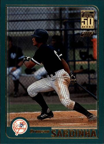Photo of 2001 Topps Traded #T260 Bronson Sardinha RC