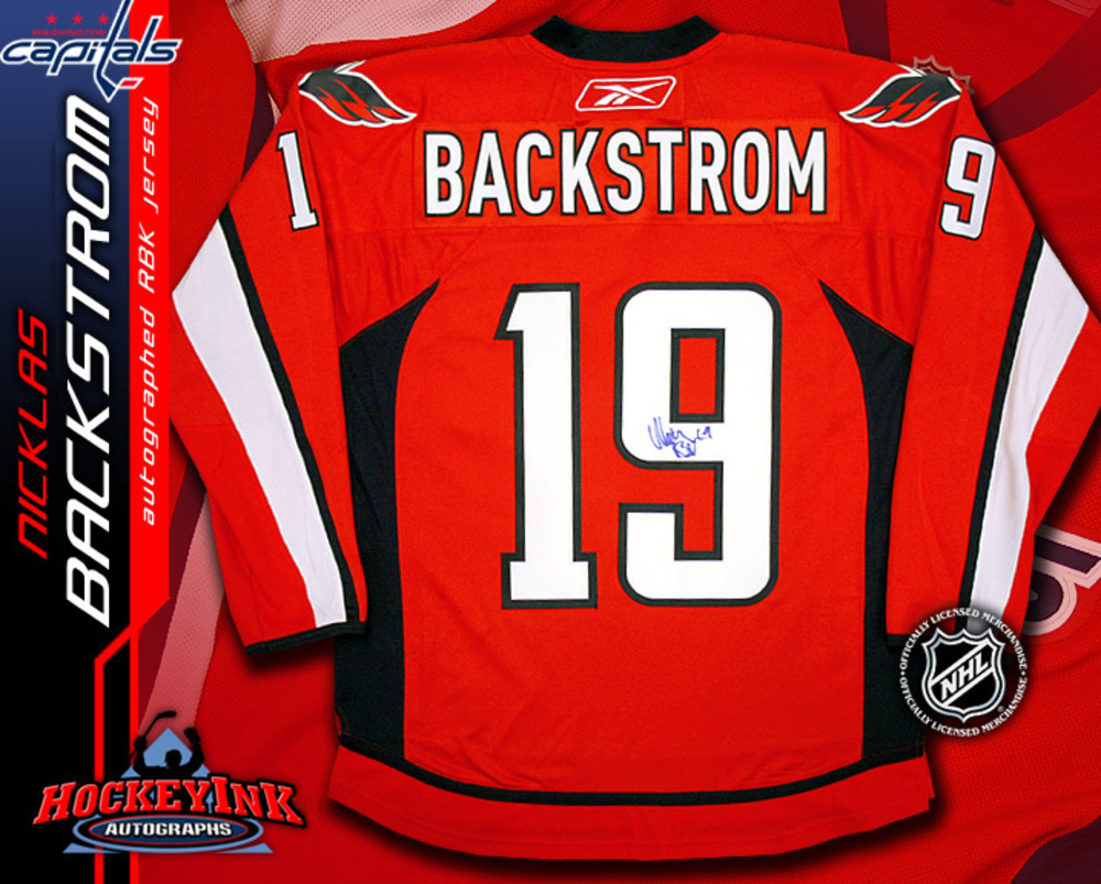 NICKLAS BACKSTROM Signed RBK Premier Red Washington Capitals Jersey