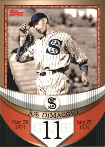 Photo of 2007 Topps DiMaggio Streak Before the Streak #JDSF11 Joe DiMaggio
