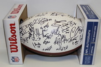 BILLS - 2015 MULTI SIGNED PANEL BALL (INCLUDING LESEAN MCCOY SAMMY WATKINS TYROD TAYLOR JERRY HUGHES KARLOS WILLIAMS KYLE WILLIAMS MARIO WILLIAMS) SMUDGES ON SIGNATURES DUE TO HANDLING