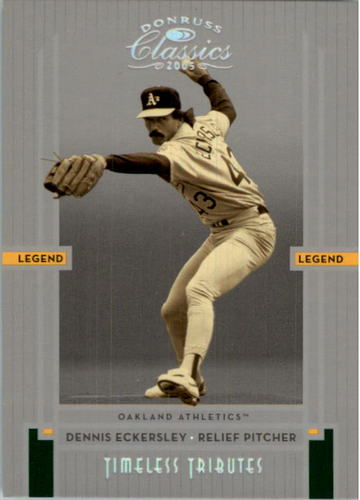 Photo of 2005 Donruss Classics Timeless Tributes Silver #243 Dennis Eckersley LGD