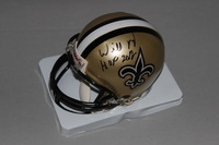 HOF - SAINTS WILLIE ROAF SIGNED SAINTS MINI HELMET