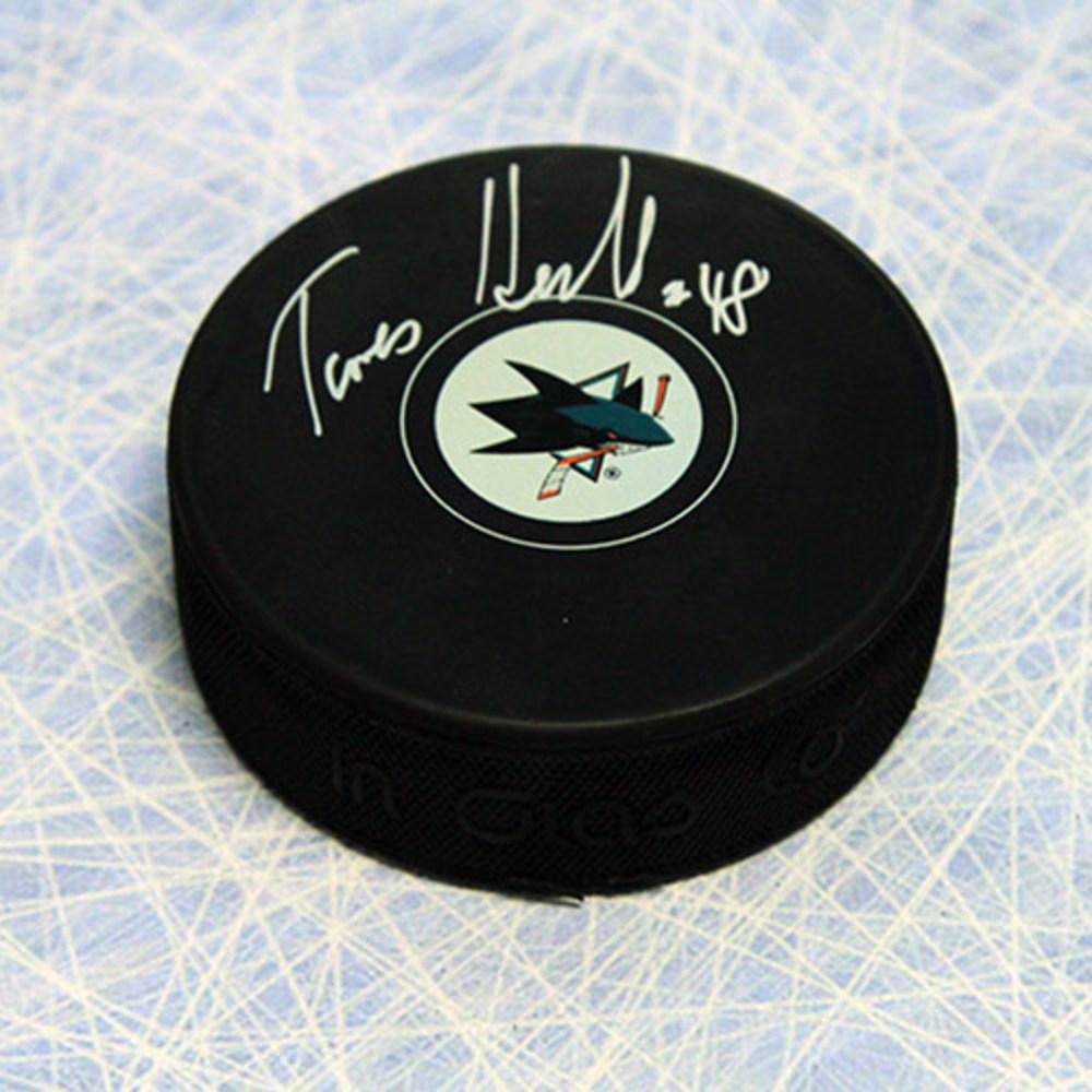 Tomas Hertl Autographed San Jose Sharks Hockey Puck