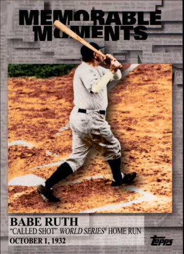 Photo of 2017 Topps Memorable Moments #MM44 Babe Ruth